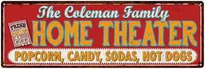 The COLEMAN Family Home Theater Sign Gift Metal Movies Decor 106180100102