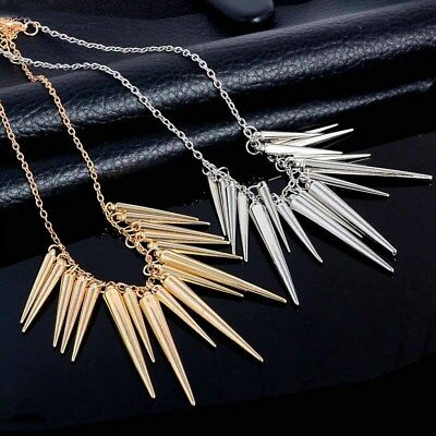 Retro Wolf Tooth Necklace Spike Necklace Personality Punk Clavicle Chain