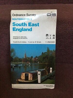 old map Ordnance Survey Routemaster 9 South East England