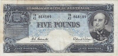 1960 Five Pound Coombs/Wilson R50 Very Fine