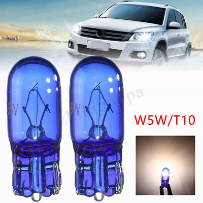2x T10 W5W 168 5W Super Bright White Halogen Light Xenon Sidelight Bulb Lamp 12V