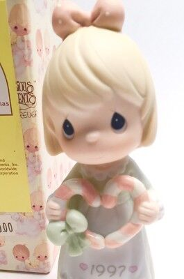 ENESCO Vtg 1997 Annual PRECIOUS MOMENTS Cane You Join Us for a Merry Christmas