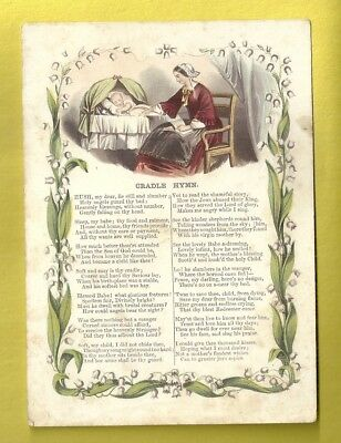 Vintage Song Card CRADLE HYMN To Baby