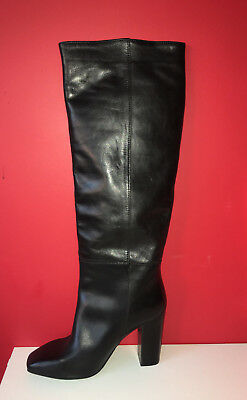 NEXT Black Pull On Knee High Block Heel Winter Boots UK 5 EU 38