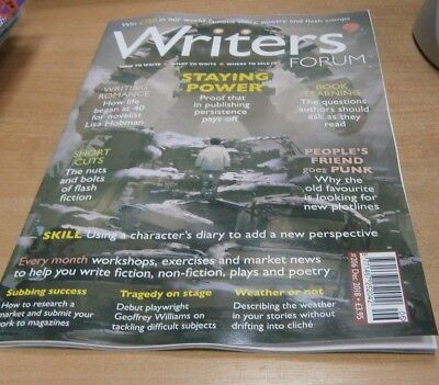 Writers' Forum magazine #206 DEC 2018 Persistence, Writing Romance, Weather &