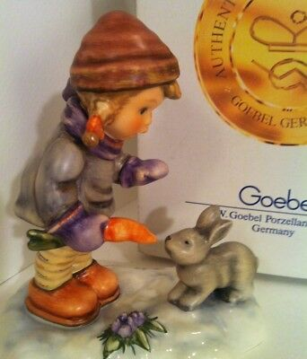 RARE BUNNY LOVER GIRL ONLY 25,000 MADE Hummel MINT Goebel Porcelain Figurine