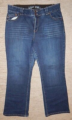 LANE BRYANT Dark Wash Stretch Denim Blue Jeans Women's 18 Average BOOT CUT