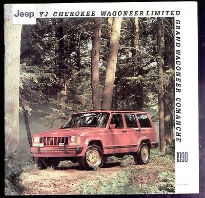 1990 Jeep French Sales Brochure 9 Models shown (24 pages)