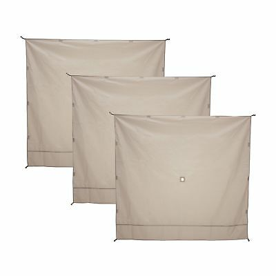 Gazelle Wind Panel Accessory for Portable Canopy Gazebo Screen Tents, 3 Pack