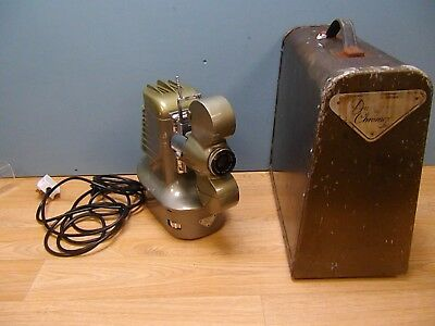Vintage 1940s Dufay Chromex strip film Projector with case WORKING