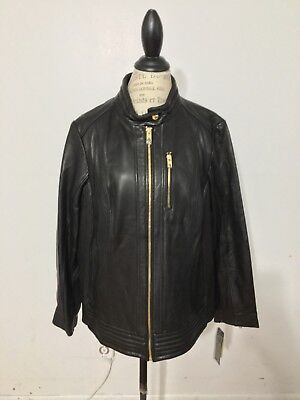 55ed6dc57 ELIE TAHARI NWT  1298 Eliza Leather Motorcycle Jacket 0X -  207.49 ...
