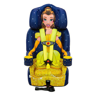 Kids Embrace Disney Princess Belle Combination 5 Point Harness Booster Car Seat