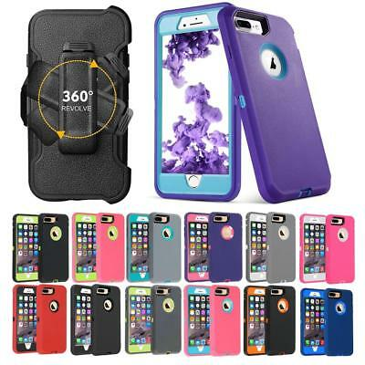Defender Case Series Cover For iPhone 8 7 6 6S Plus(Clip Fits Otterbox Defender)