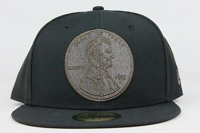 2f2ae94f14cc9 Penny Hardaway One 1 Cent Nike Foamposite Black Green New Era 59Fifty  Fitted Hat