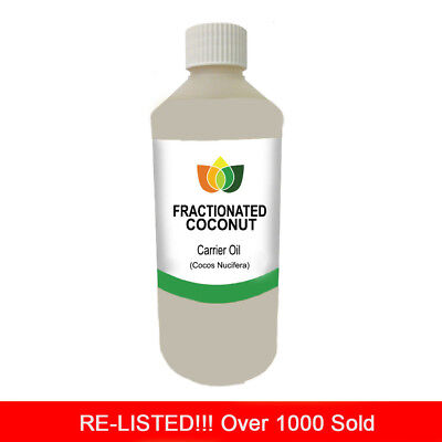 500ml FRACTIONATED COCONUT OIL PREMIUM Cold Pressed Natural Carrier/Base