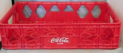 Vintage Ccnne Coca Cola Of Northern New England Red Plastic Carrier Case Crate