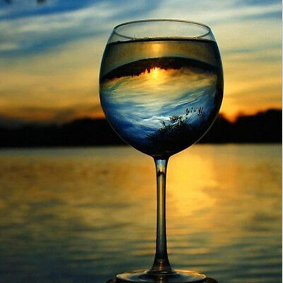 DIY Craft Abstract Wine Glass Full Diamond Painting Embroidery Stitch Picture CB