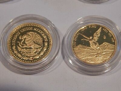 2011  1/20 Ounce Gold Proof Mexico Libertad In Capsule Low Mintage