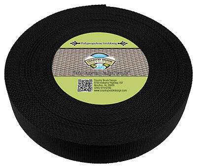 Country Brook Design® 1 1/2 Inch Black Polypro Webbing, 400 Yards