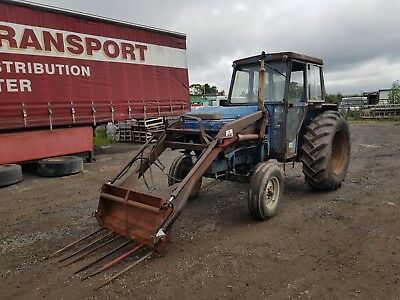 leyland 384 tractor with loader power steering can deliver