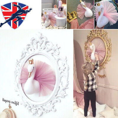 Girls Dream Crown Swan Wall Hanging Kids Baby Room Home Bedroom Decoration Gift