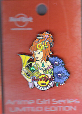 Hard Rock Cafe Pin: Hamburg Anime Girl Series le300
