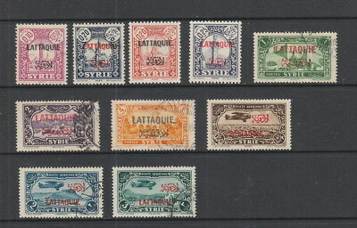 Latakia, 10 stamps MH or used