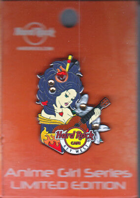 Hard Rock Cafe Pin: Key West Anime Girl Series le300