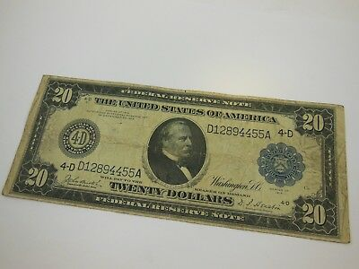 Series 1914 $20 Federal Reserve Note Cleveland