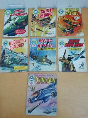 Selection of 7 Vintage Air Ace Picture Library Paperback Comic Books 209-294