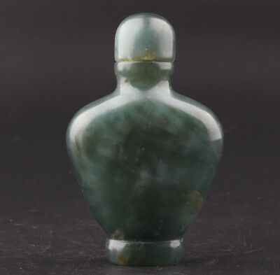 Precious China'S Natural Jade Snuff Bottle Old Hand-Sanded Decorative Gift Box