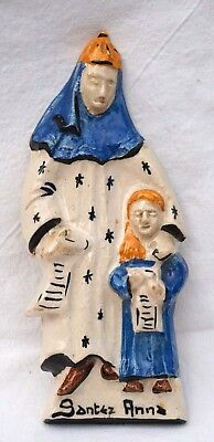 QUIMPER ST BRIEUC Saint Anne Virgin Mary R Tostivint Faience Sconce Plate
