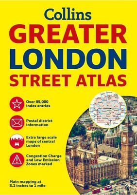 Greater London Street Atlas by Collins Maps 9780008112790 (Paperback, 2016)
