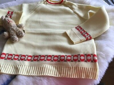 AUTHENTIC VINTAGE 1970s UNUSED BABY GIRLS BOYS CHILDRENS JUMPER NYLON 70S 9/12M