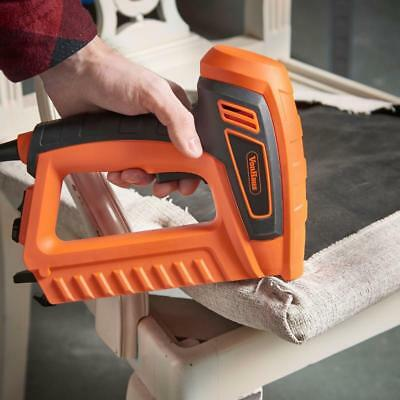 Electric Staple Gun Tacker Nail Stapler Fabric Upholstery Furniture Power Tools