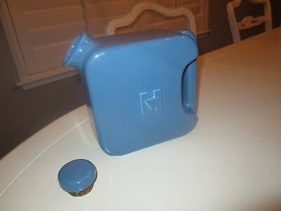 1940s? Hall China Hotpoint Refrigerator Pitcher Water Jug - Blue - NR!