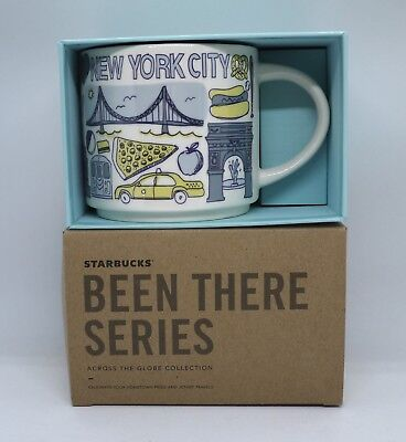 """STARBUCKS """"BEEN THERE SERIES"""" NEW YORK CITY (14 Oz) MUG CUP *BRAND NEW in BOX!"""