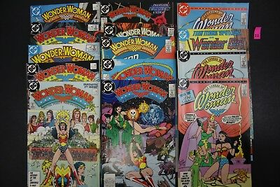 Vintage 1980's DC The Legend of Wonder Woman Comic Book 15x MIXED LOT READ PS22