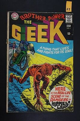 Vintage 1968 DC No. 1 Brother Power The Geek Comic Book PS23