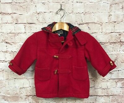 Fieldston Clothes Children's Jacket 3T Red Wool Peacoat Pea Coat 3 years