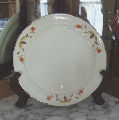 "A Jewel Tea Autumn Leaf 10 1/4"" Dinner Plate By Hall China!"