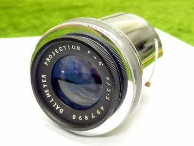 "Vintage DALLMEYER PROJECTION LENS F = 4"" F / 3.5 No 497898 w/ FOCUS MOUNT VGC"