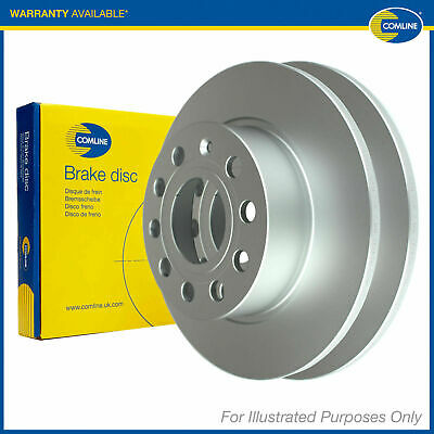2x Genuine Comline Rear Solid Coated Brake Discs Set Pair ADC3025