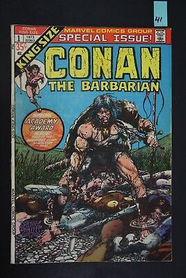Vintage 1973 Marvel No. 1 King Size Conan The Barbarian Comic Book Special PS41