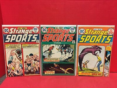 Lot Of 3 Strange Sports Stories #4 5 6 Comics DC Boxing Basketball Golf Hockey