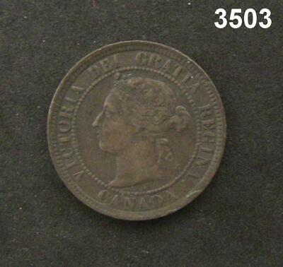 1884 Canada Large Cent Xf+! #3503