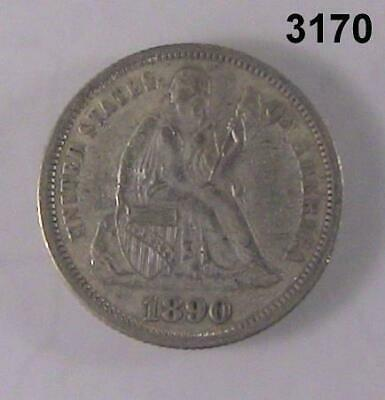 1890 Seated Liberty Dime Au! #3170