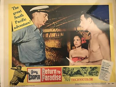 """Vintage Lobby Card From """"Return to Paradise"""""""