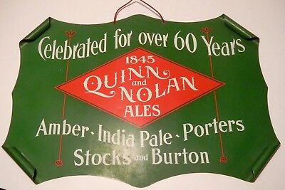 Quinn And Nolan Pre Pro Beer Sign Tin With Curved Corners With Original Box