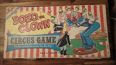 Vintage 1960 Bozo The Clown Circus Game by Transogram Capital Records Inc